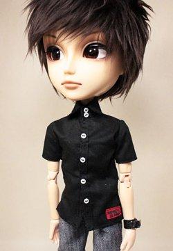 画像1: ピーターパンシャツ/黒/テヤンサイズ【受注販売商品】