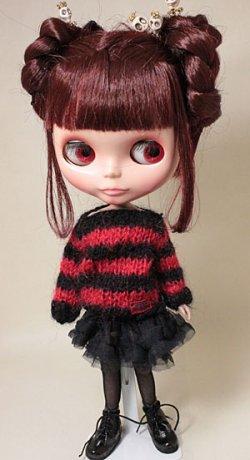 画像1: チュチュ風スカート/黒ドット/22cmサイズ【受注販売商品】