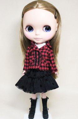 画像1: 赤×黒ピーコート【22cmサイズ】